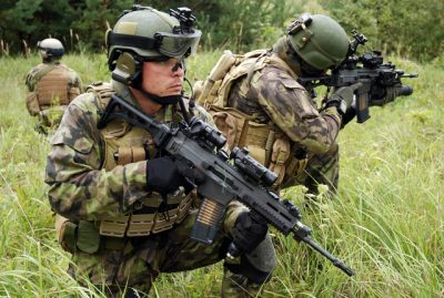 The military CZ 805 Bren in action with Czech Republic forces. Image courtesy of Ceska zbrojovka, a.s.