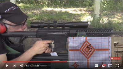 In the video you'll see that I ran steel cased Russian ammo in the gun, because I think it is a good choice for an afternoon at the range. The gun runs nice and clean, and the case does not ding the rifle on the way out.