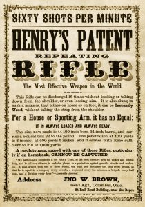 One of many Henry advertisements during the War Between the States. Image courtesy R.L. Wilson, from his book Winchester An American Legend.