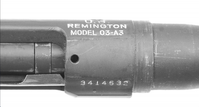 The Model 1903A3 designation was left on the Model 1903A4 receiver. It has been suggested that any rifles that failed inspection as a sniper rifle could be returned to the factory and reissued as an infantry rifle.