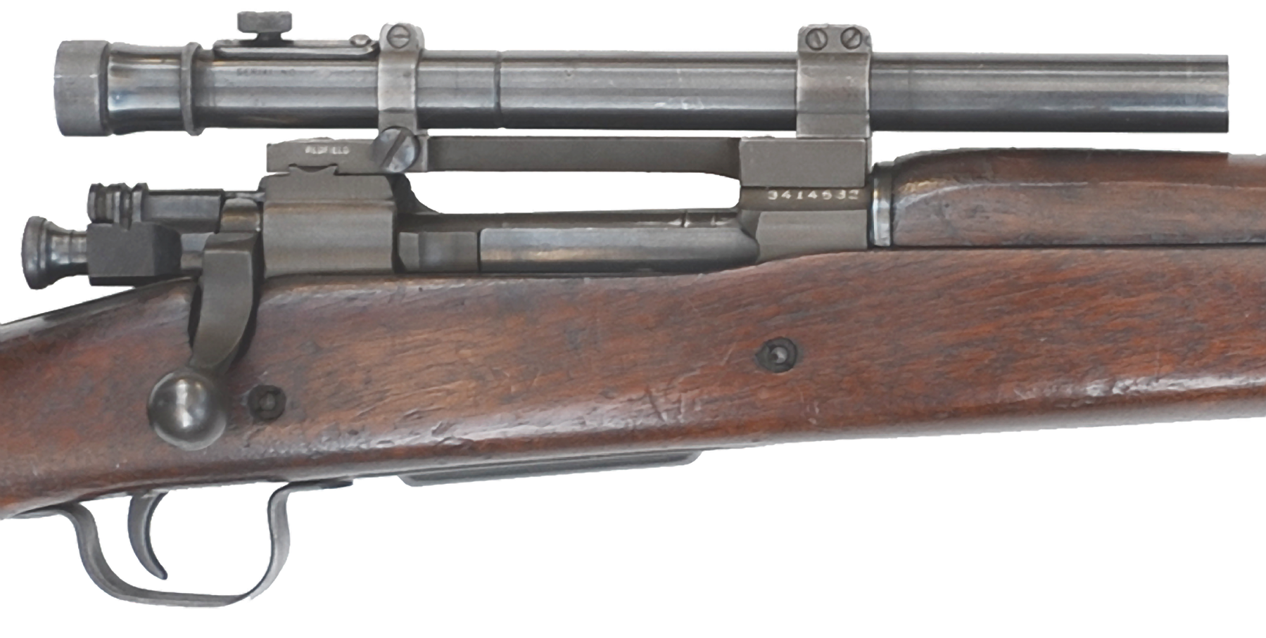 The M73B1 Telescopic Sight was a modification of the Weaver 330-C commercial scope. Most of the nation's optical manufacturers were engaged in war work when requests for the telescopic sight were announced. Weaver, although a small company in El Paso, Texas, stepped up and managed to maintain sufficient production throughout the war.