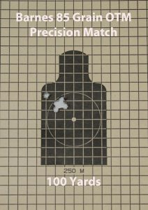 Barnes new Precision Match 85-grain OTM shot quite well out of the Grunt, with a tightest group of .55 inches at 100 yards.