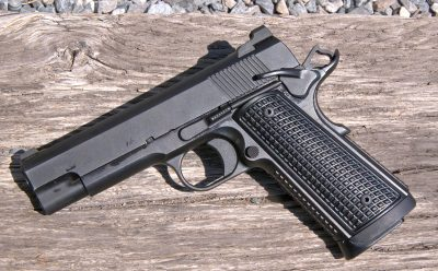 "A ""commander-sized"" 1911, the 4.25-inch barreled pistol looks just like any other .45 ACP model—except from the muzzle."