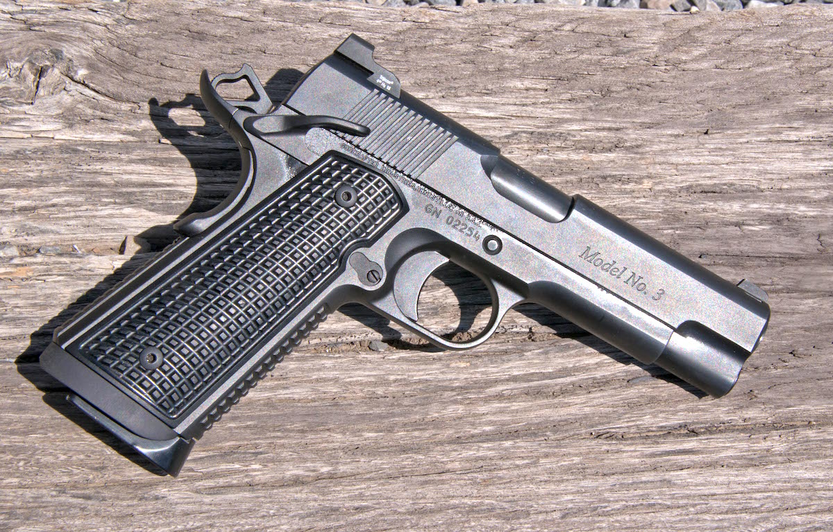 For those looking for .50-caliber punch in their EDC carry 1911, the custom No. 3 FRAG is an intriguing option.