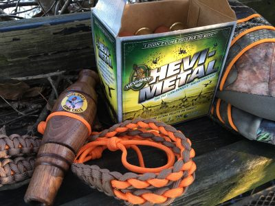 The author used a Sure Shot Triple Reed duck call as well as Hevi-Shot Hevi-Metal shells.