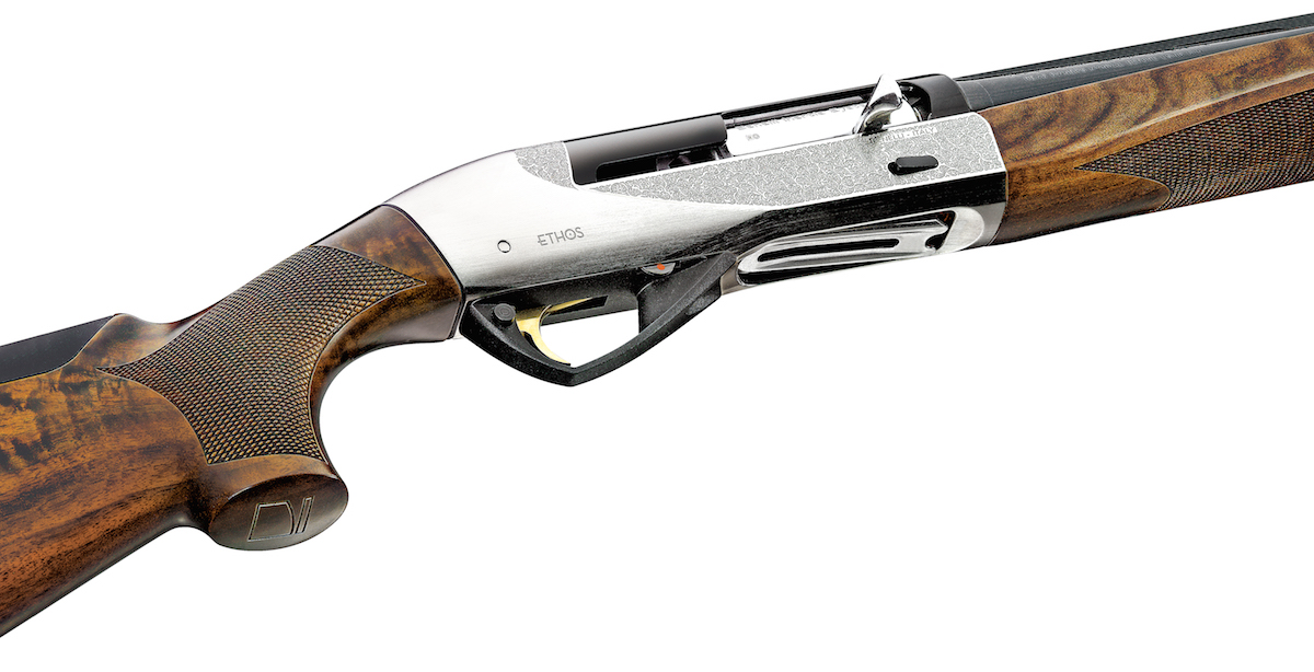 The Benelli Ethos employs the company's Inertia Driven System of operation that provides shooters with a clean-running and ultra-reliable action.