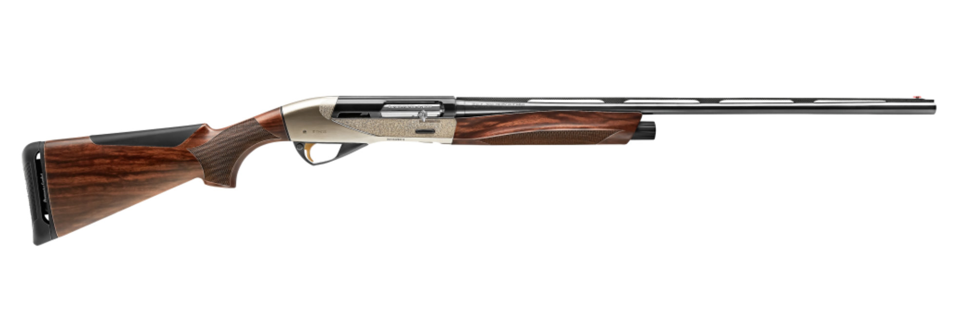 The Ethos is also offered with a nickel-plated and engraved receiver, bringing the MSRP to $2,199.