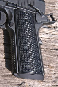 The FRAG pistol also came with a set of FRAG-pattern grip panels that can be removed and replaced if the shooter so desires.