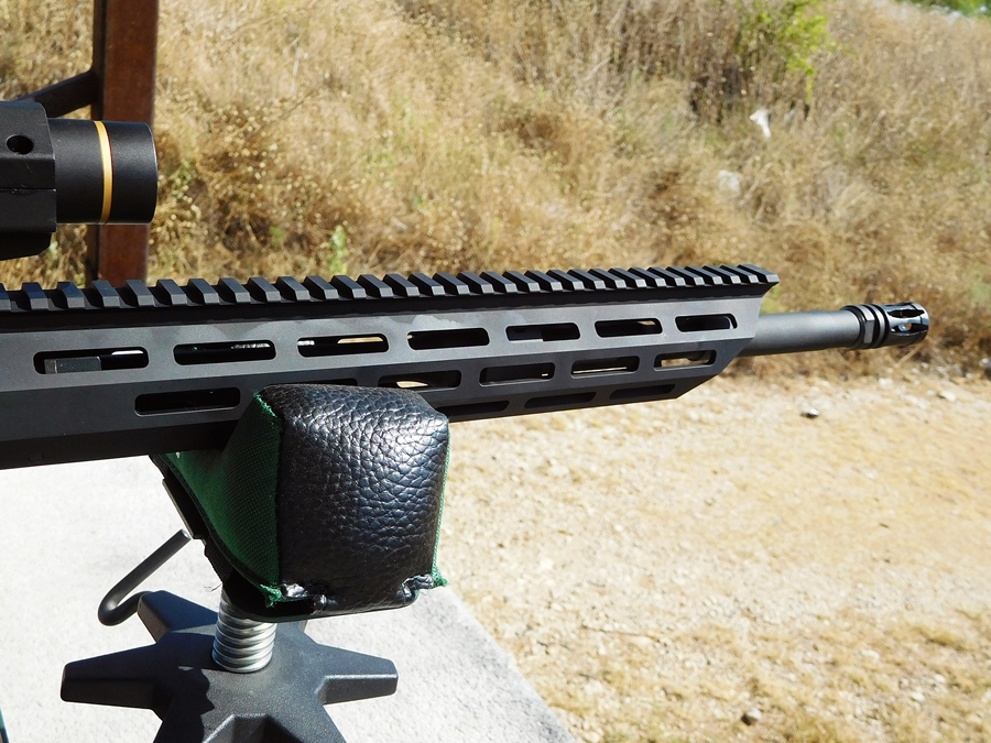 The slim new M-Lok handguard offers lots of locations to attach accessories.