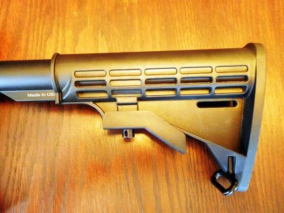 The UTG Pro six-position collapsible stock makes a lot of sense for a general use carbine.
