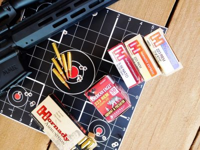 The ammo was graciously provided by Federal and Hornady. It worked great and is capable of much better groups than this average shooter can manage.