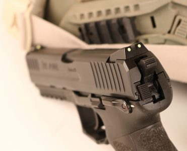 The P30L comes with a set of high-quality three-dot sights atop the lengthened slide.