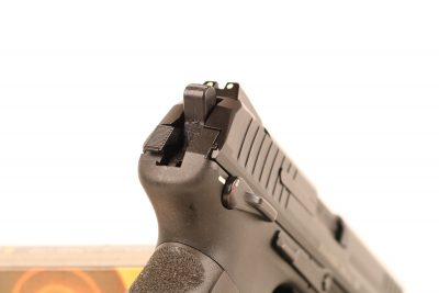 The decocker on the P30-series guns so-equipped is a tab oriented to the left of the hammer. This device is easy enough to master with a little practice.