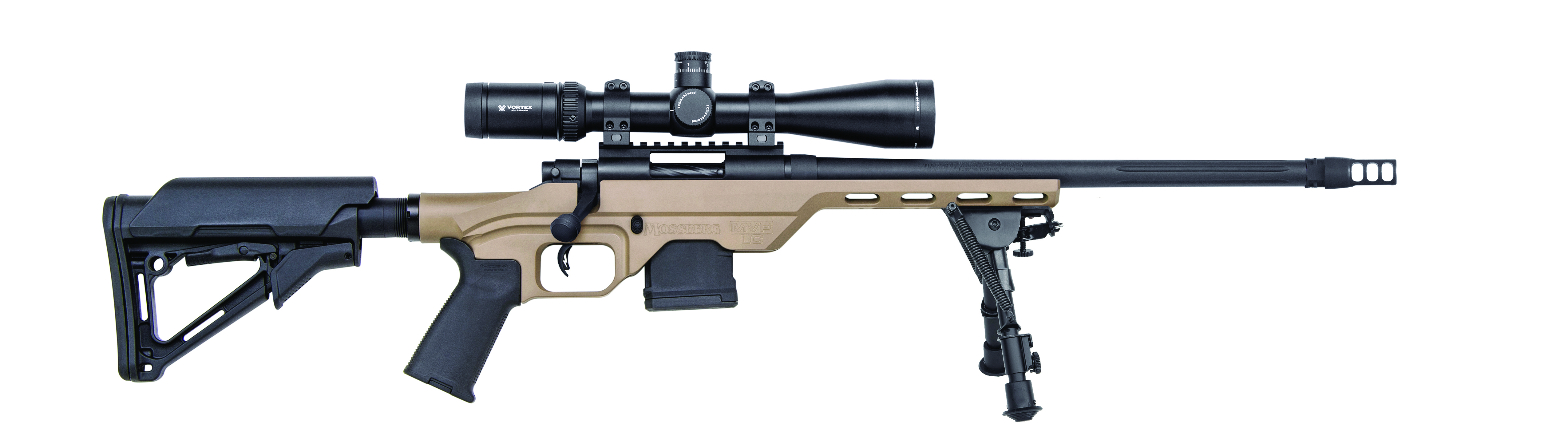 The MVP-LC is also offered in 5.56/.223. A folding bipod comes standard on both models. Image courtesy of manufacturer.