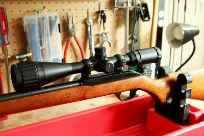 A job well done. With the right tools and know-how, this old .22 has a fresh set of eyes! Happy shooting.