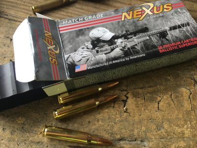 Armalite's parent company, Strategic Armory Corps, also owns Nexus Ammunition. The 77-grain match load performed shockingly well.