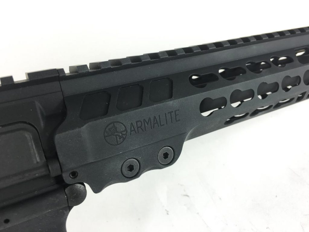 The handguard is also free-floated - likely a key feature that contributes to the excellent accuracy of this rifle.