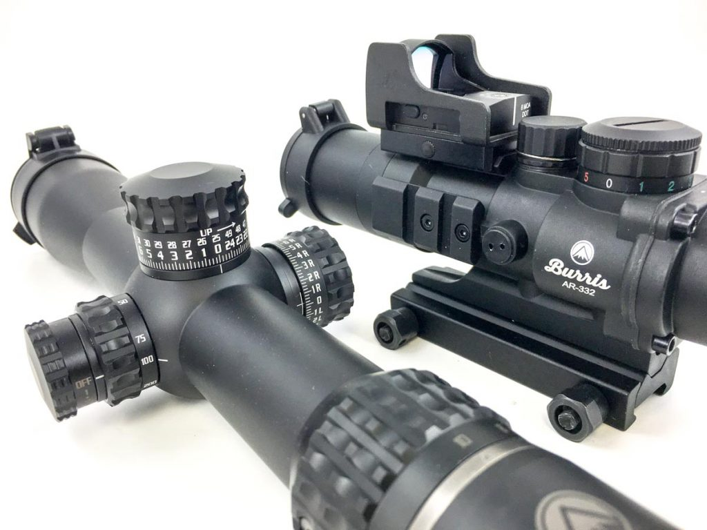 There are at least three main categories of AR optics, red dot, fixed power scopes, and high-magnification scopes. Which do you choose?