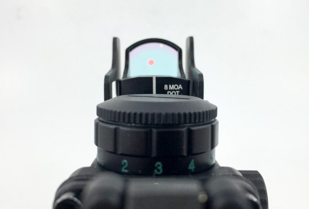 With a dual-mount scenario, just move your eye an inch and you have a whole new sight picture through the red dot.