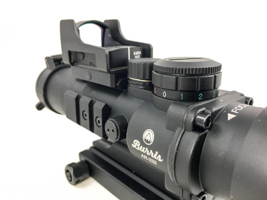 There's no reason you can't mount a red dot like this FastFire 3 on a magnified optic. Shown here mounted on a fixed 3x Burris AR-332 optic.