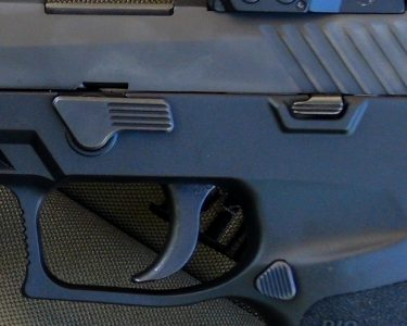 Improvements to the P320 include a flat takedown lever and a smaller slide stop.