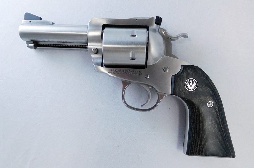 When it comes to bear-busting power, you have to have at least a .44 Mag to expect to accomplish anything. And, if you can pack it into a relatively compact gun like this 3.75-inch-barreled Ruger Super Blackhawk Bisley, then all the better.
