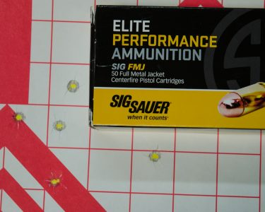 He also used Sig's own FMJ ammo.