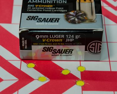 But Sig's own V-Crown ammunition did the best of all tested.