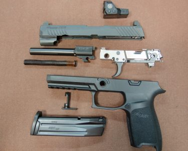 Those familiar with the P320 Series will recall its modular design that allows the user to quickly change sizes and/or calibers.