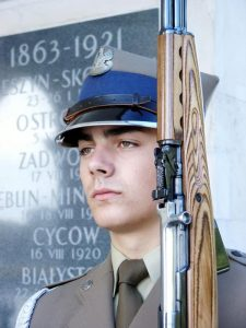 Poland, although a member of the Warsaw Pact during the Cold War, did not manufacture the SKS carbine domestically but issued Russian-based models for ceremonial purposes.