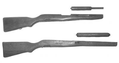 The forearm and handguard for the Albanian Independence Carbine are longer that the standard SKS Carbine fore end and handguard.