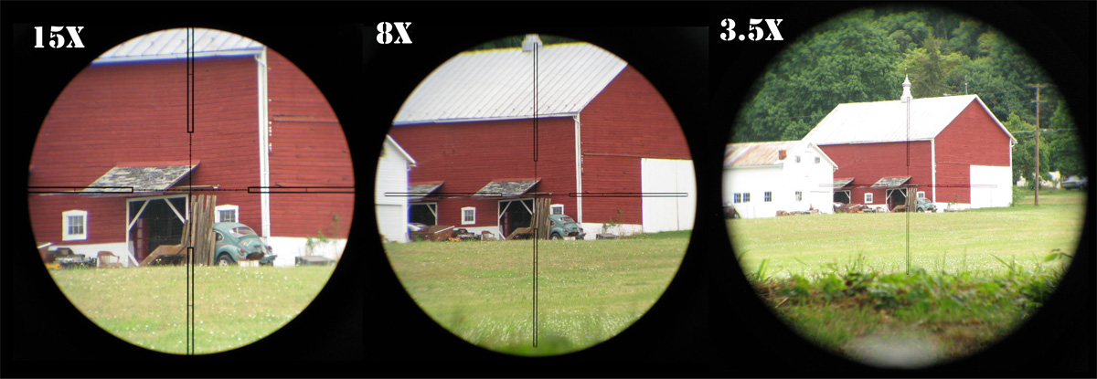 First focal plane optics can be used for ranging at any power setting. Although the reticle is hard to make out on lower settings it remains the best all around option for tactical use.