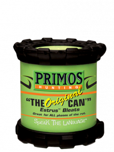 Primos—with its Original Can—was one of the first companies to roll out an estrus bleat call for hunting that is easy to use and has excellent volume.