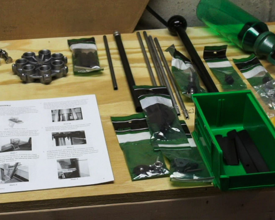The Pro-Chucker 7 comes as a full kit, ready to assemble and start reloading.
