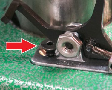 The replacement assembly was a challenge to install, due to the location of the screw (arrow).
