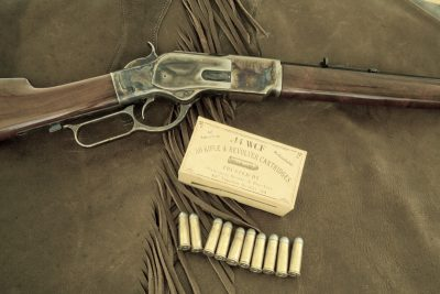 The author exclusively runs handloaded black power loads through his Uberti 1873. Not because he has to, but because he likes to.