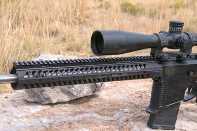 Samson's 15-inch Evolution handguard covers the barrel, providing ample mounting positions for rails of various lengths.