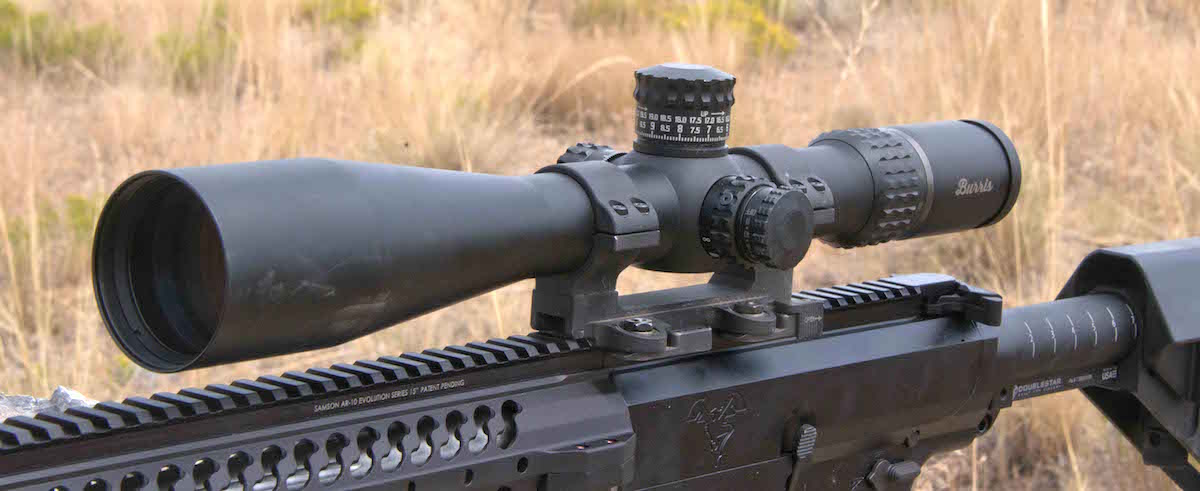 The author equipped the rifle with a Burris XTR II 5-25X FFP scope mounted in a Larue Tactical PSR20 mount.