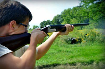 Sean Yackley shooting a Stoeger Coach Gun Supreme.