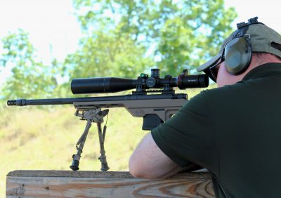 The clear, crisp optics, comfortable chassis system, and highly effective muzzle brake made for a very soft shooting rifle that was no trouble at all from the bench.