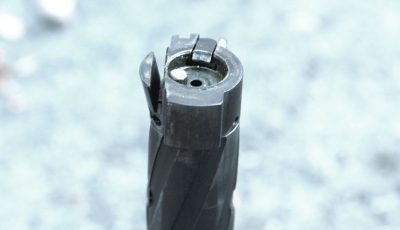 The unique MVP bolt head is designed to reliably strip rounds from a standard AR-15 magazine. The key is the steel flap that hangs down to catch the round, then pivots up in battery.