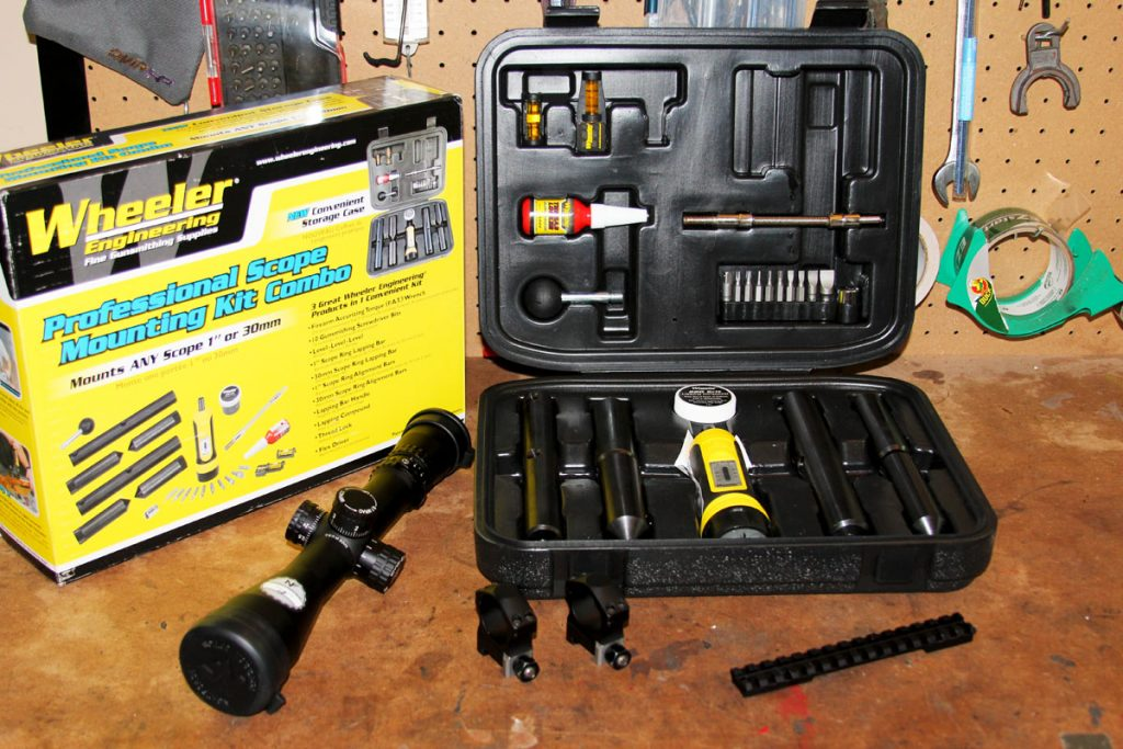 This scope mounting kit has everything that is needed to mount scope bases and rings from just about any manufacturer.