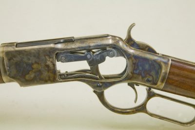 Although somewhat delicate by today's standard's, the toggle link of the 1873 was effective and smooth cycling.