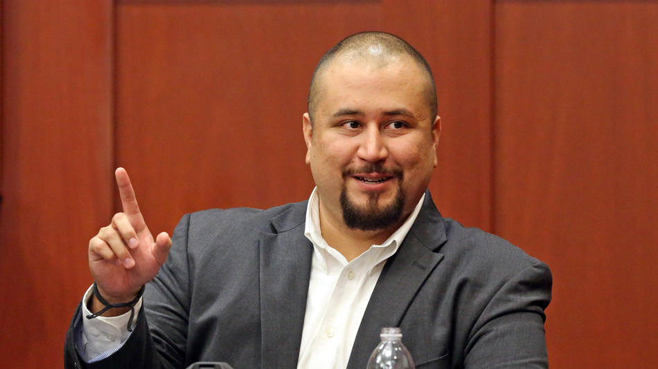 George Zimmerman looks at the jury as testifies in a Seminole County courtroom Tuesday, September 13, 2016 during the trial of Matthew Apperson who is accused of trying to kill Zimmerman by shooting into his truck during a road rage dispute on Lake Mary Boulevard last year. (Red Huber/ Staff Photographer)
