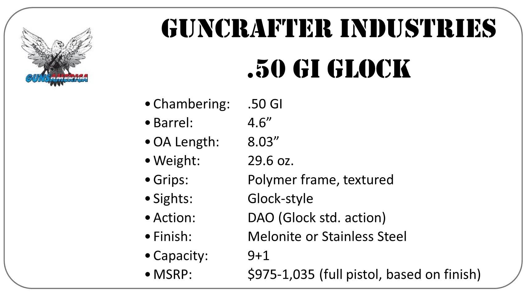A 50 Caliber Glock Full Review Conversion Kit Complete Gun