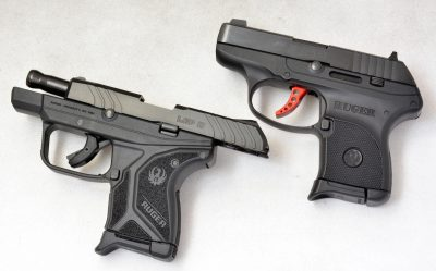 The LCP II (left) brings a locking-open slide system on empty magazines and also a radically recontoured shape.