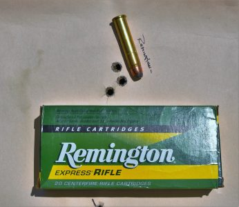 The author ran some Remington 405-gr. jacketed soft point through the rifle and shot a 0.71-inch group.