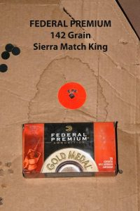 This Federal 142-grain SMK was very accurate in the Proof Research barrel and consistent a distance.
