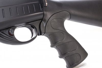The manual safety of the TEC-12 is located in the forward portion of the triggerguard.
