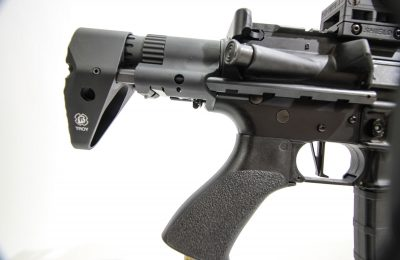 The M7A1 PDW stock allows you to drastically shorten your AR's overall length.